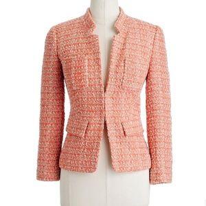 J Crew Coral tweed blazer